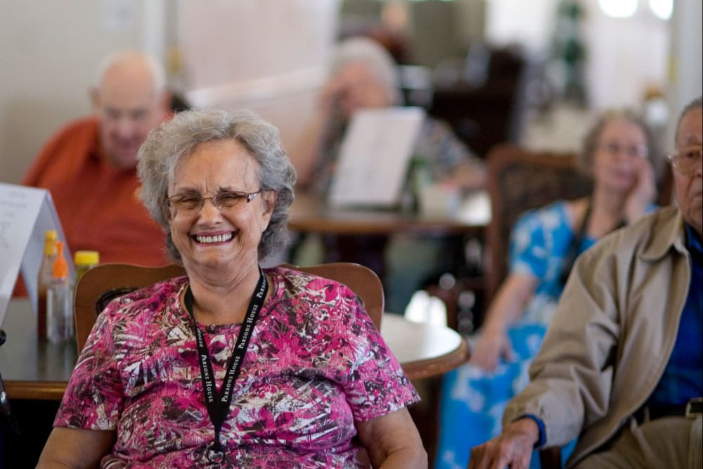 Happy resident at Parsons House La Porte in La Porte, Texas
