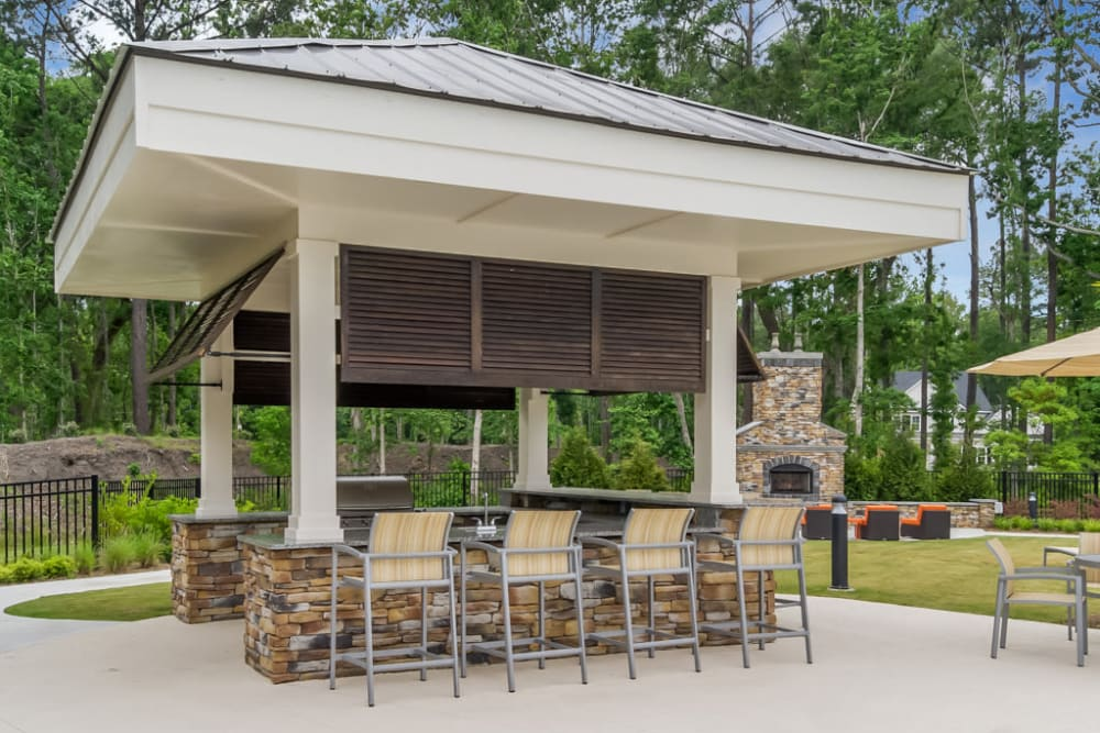 Outdoor Grill Space at Lullwater at Blair Stone in Tallahassee, Florida