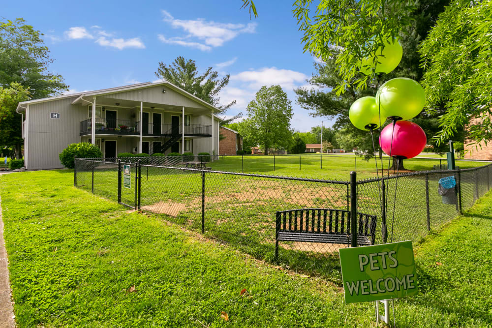 Magnolia Place offers an onsite dog park in Franklin, Tennessee