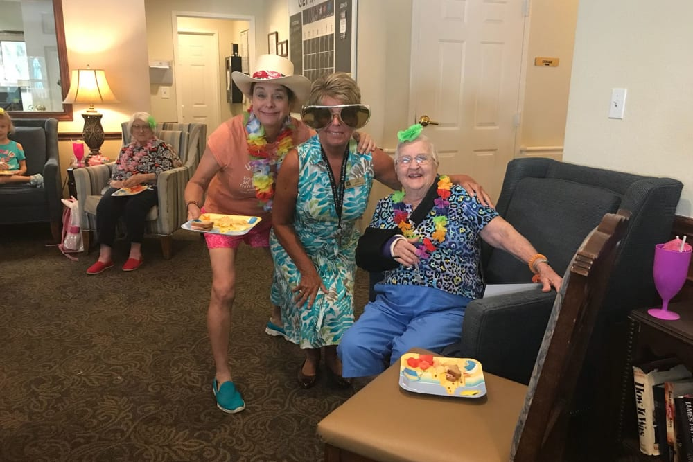 Residents being silly at Parsons House Preston Hollow in Dallas, Texas