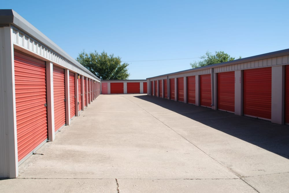 Outdoor storage at Aarons Self Storage 1 in Waco, Texas
