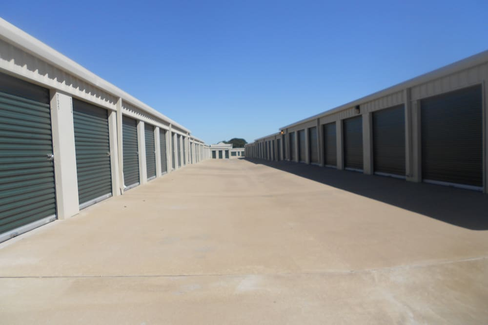 Outdoor storage at Aarons Self Storage 2 in Waco, Texas