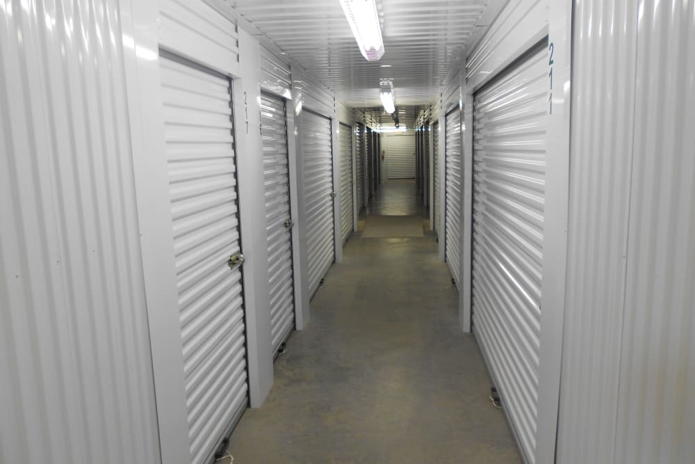 Indoor storage at Aarons Self Storage 4 in Waco, Texas