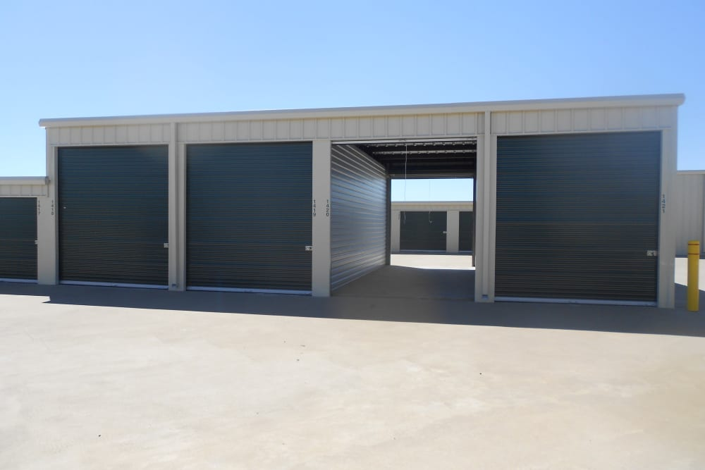 Outdoor storage at Aarons Self Storage 4 in Waco, Texas
