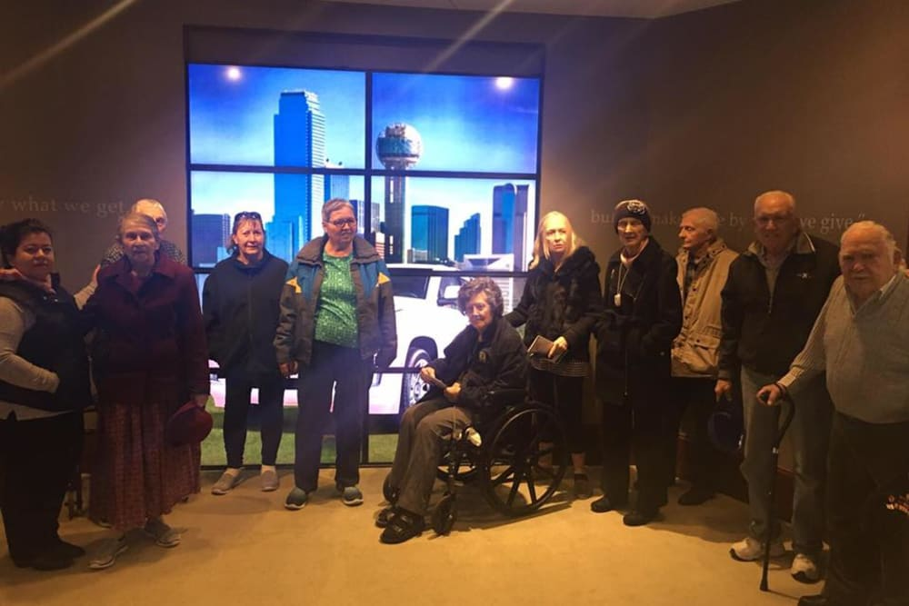 Residents out on a trip at Parsons House Preston Hollow in Dallas, Texas