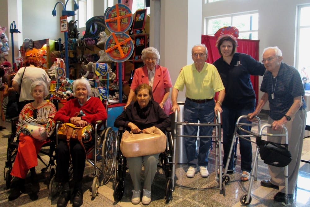Residents having fun together at Parsons House Preston Hollow in Dallas, Texas