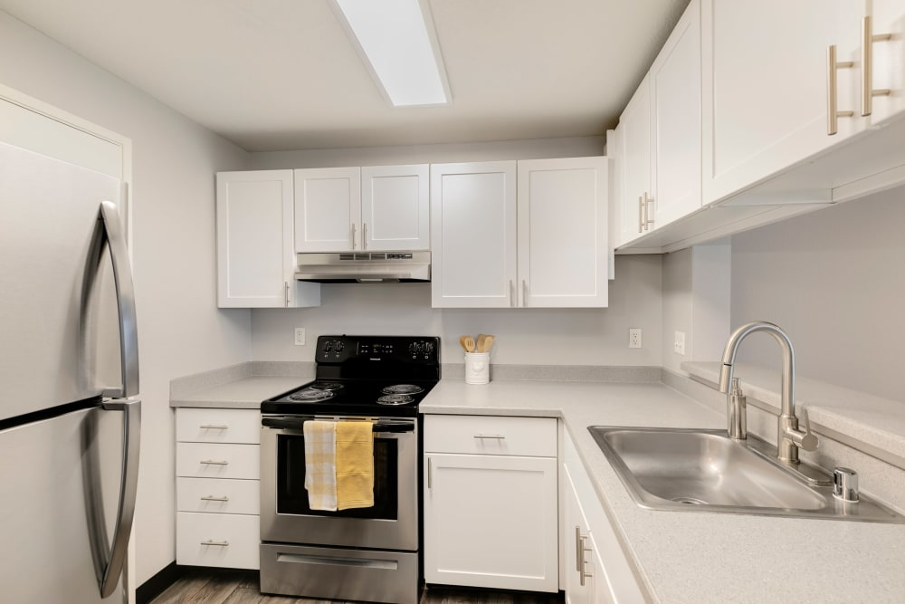 White Renovation at Meadows at Cascade Park Apartments in Vancouver