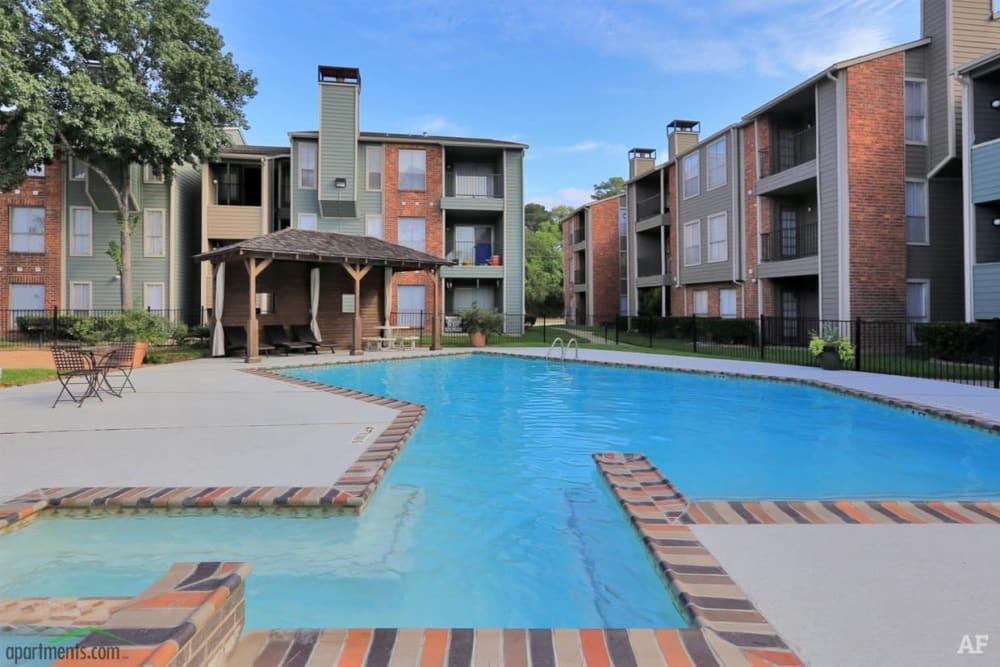 Outdoor pool at The Venetian on Ella in Houston, Texas