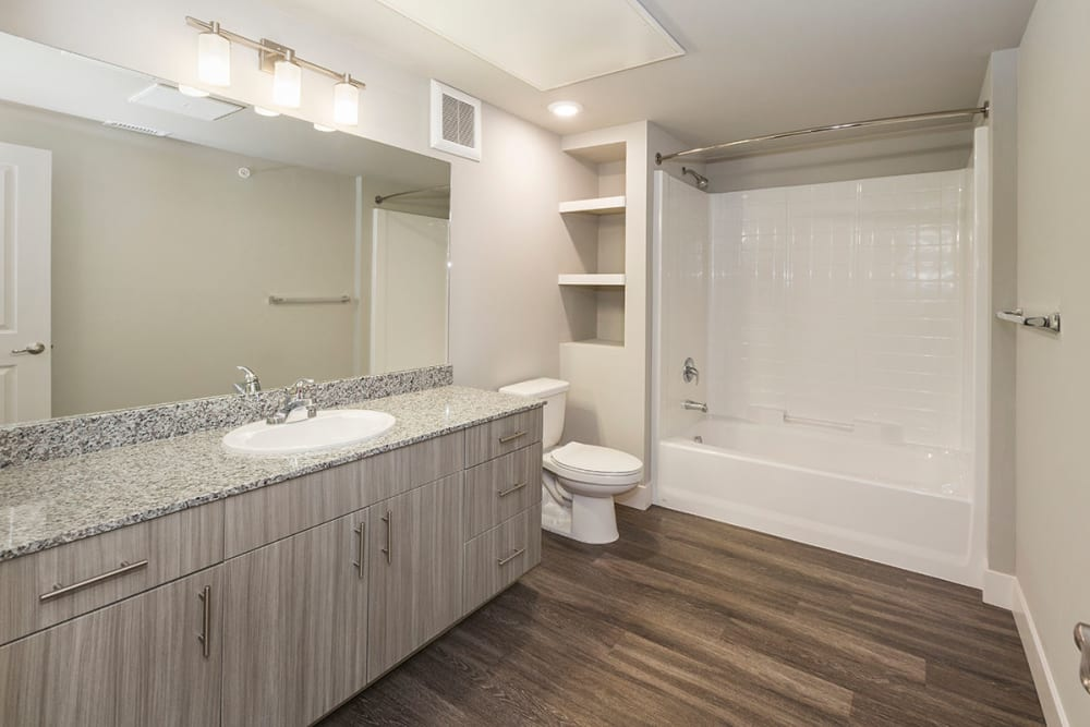 Bathroom with plenty of counter space at The Overlook at Interquest in Colorado Springs, Colorado