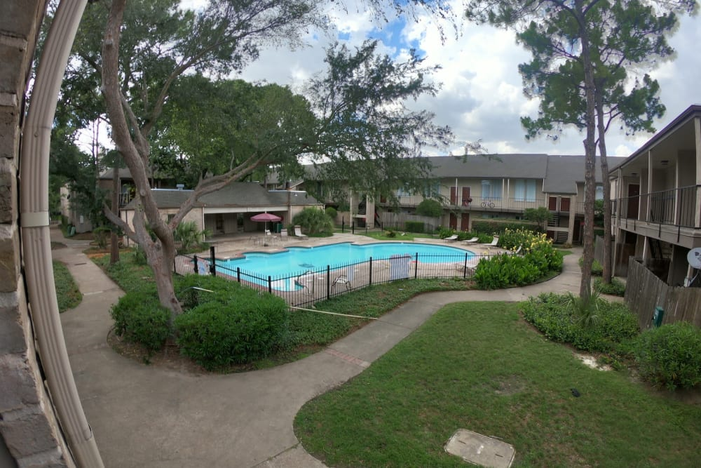 Outdoor pool at 2929 Dunvale in Houston, Texas