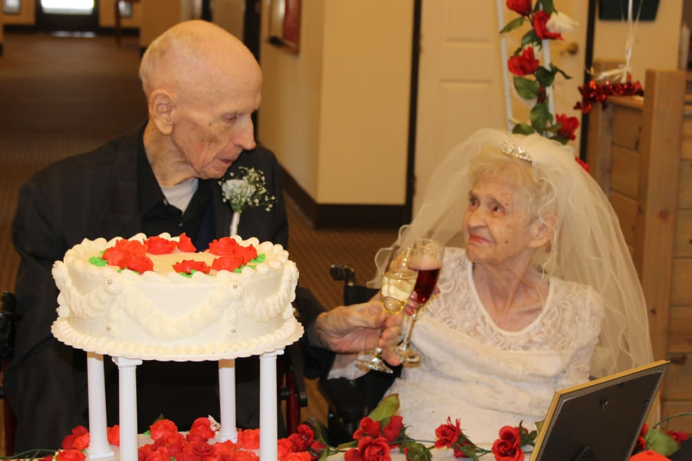 Happy residents at Desert Peaks Assisted Living and Memory Care