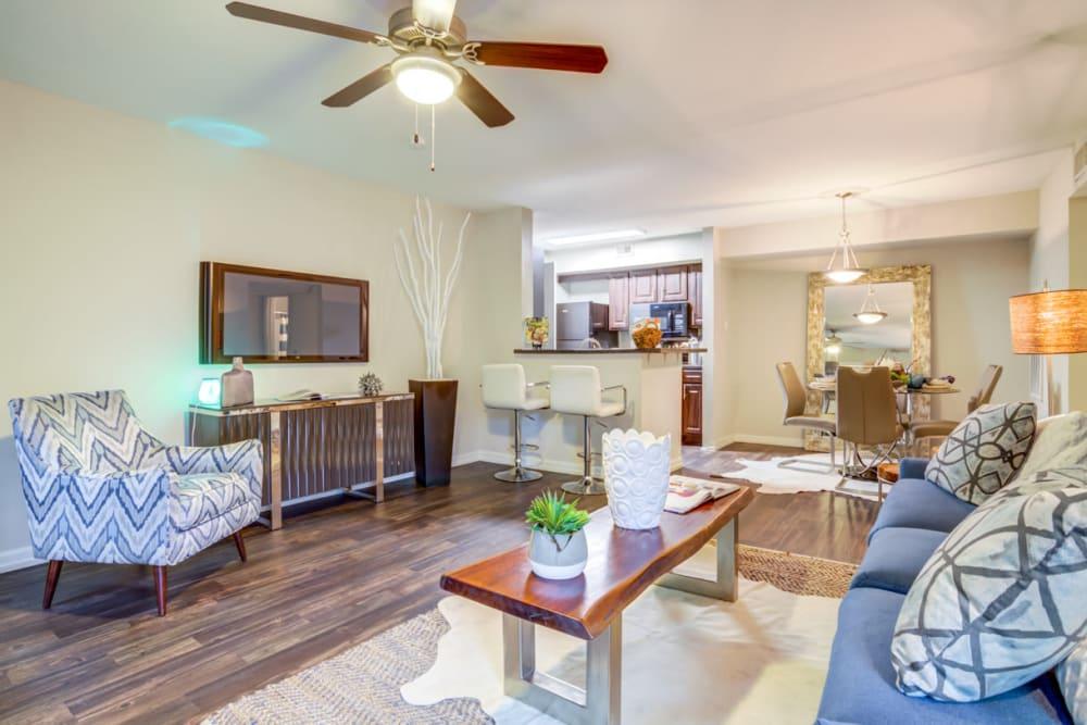 Living Room at Carmel Creek in Houston, Texas