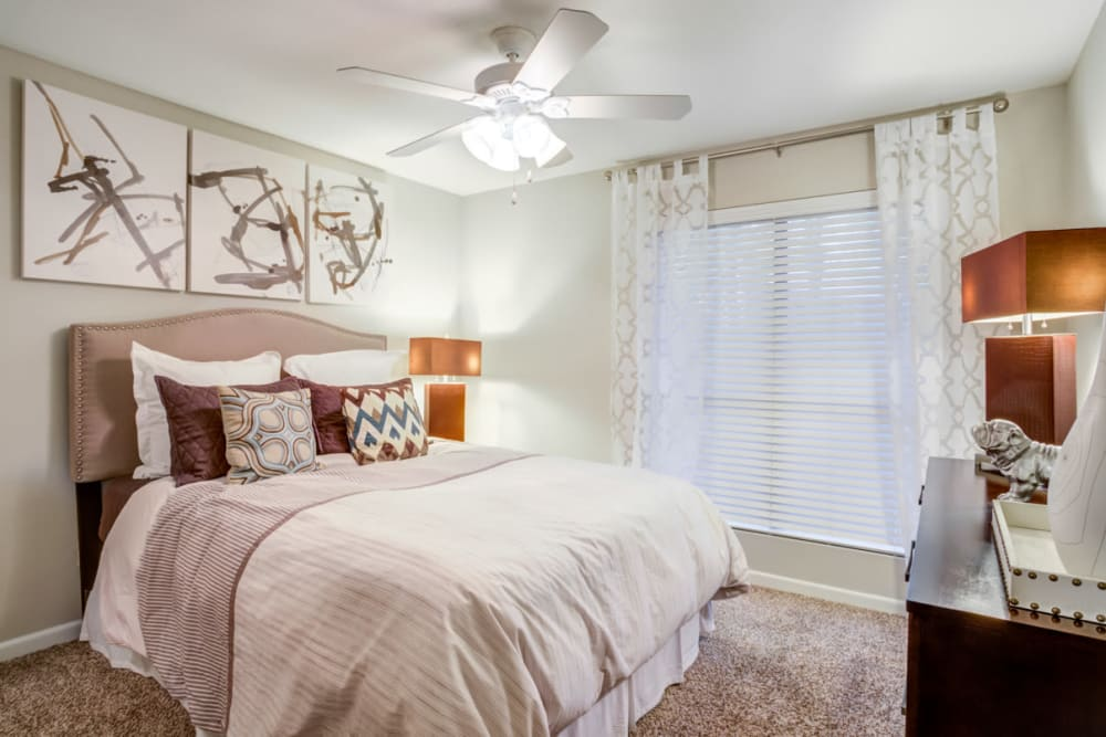 Bedroom at Apartments in Houston, Texas