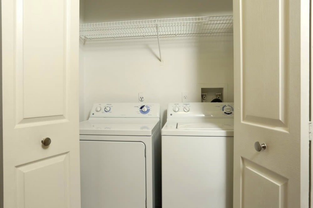 Included washer and dryer at Amara at MetroWest in Orlando, Florida
