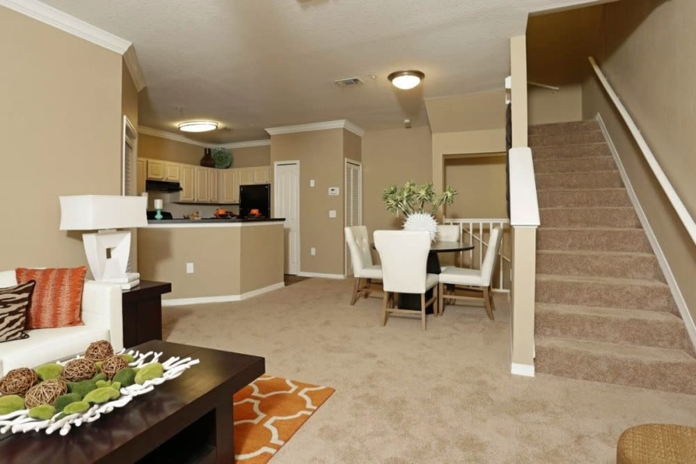 Open-concept floor plan with high ceilings at Amara at MetroWest in Orlando, Florida