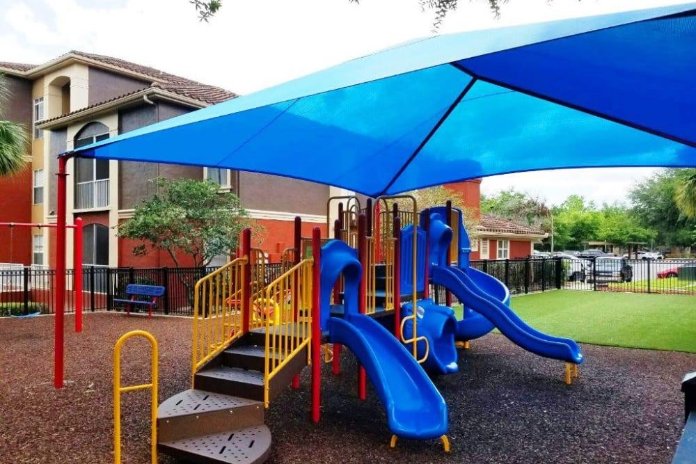 Covered children's playground at Amara at MetroWest in Orlando, Florida
