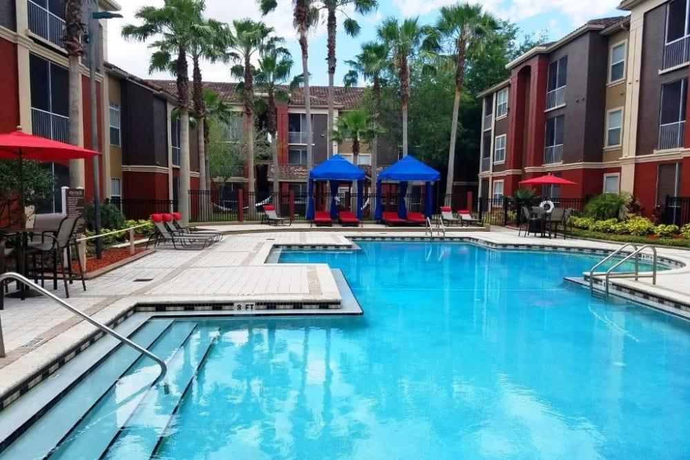 Spacious resort-style swimming pool at Amara at MetroWest in Orlando, Florida