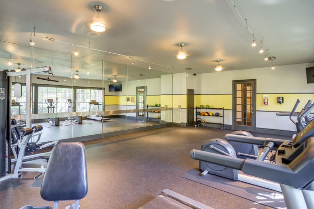 Fitness Center at Apartments in Houston, Texas