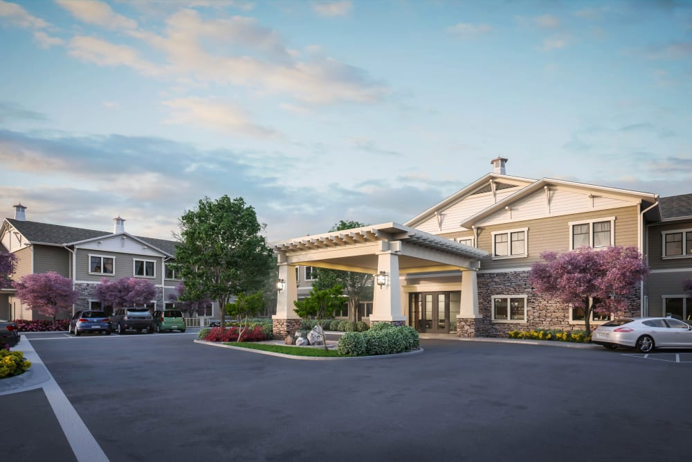 A rendering of the exterior of Clearwater at Rancharrah in Reno, Nevada
