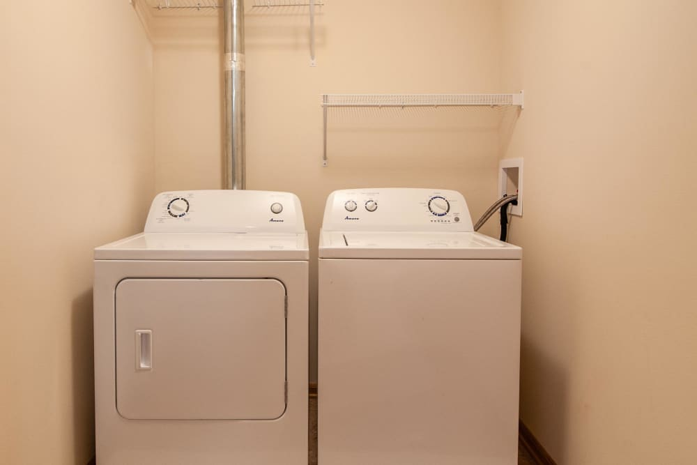 Washer and dryer included at South Meadow in Ames, Iowa.
