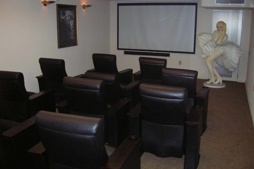 Enjoy access to a onsite movie theater at The Heights at Columbia Knoll in Portland, Oregon