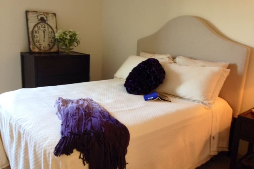 Lovely, spacious bedrooms at The Heights at Columbia Knoll in Portland, Oregon