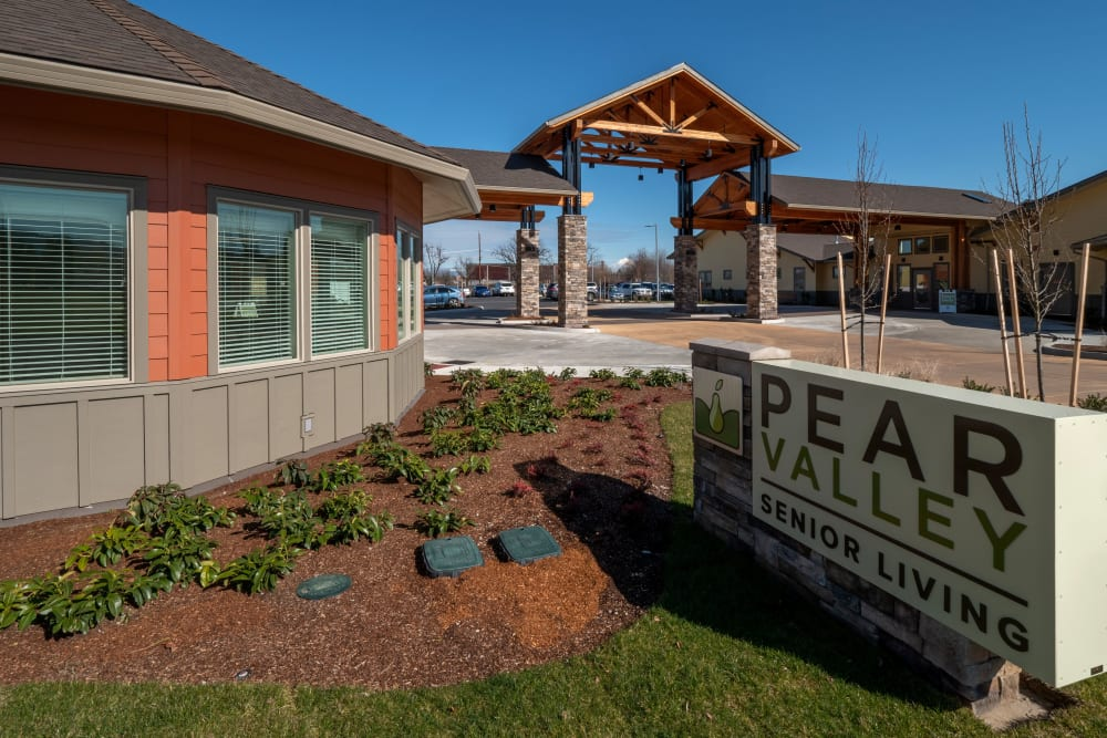 Pear Valley Senior Living sign