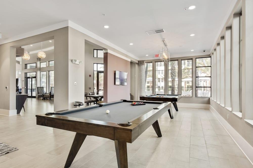 Billiards table at Steele Creek in Jacksonville, Florida