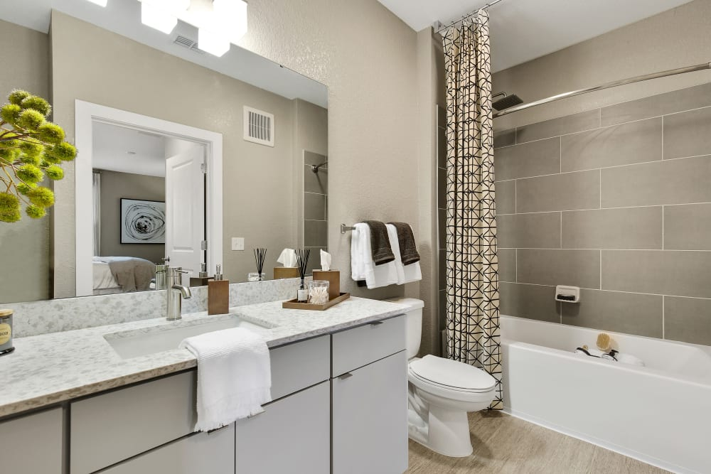 Spacious bathroom with plenty of counter space at Steele Creek in Jacksonville, Florida