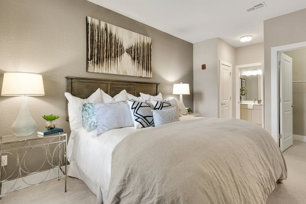 Bedroom with spacious closets at Steele Creek in Jacksonville, Florida