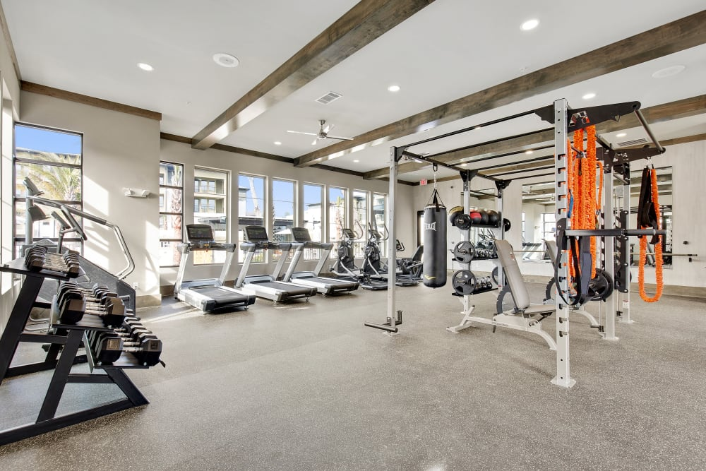 State-of-the-art fitness center at Steele Creek in Jacksonville, Florida