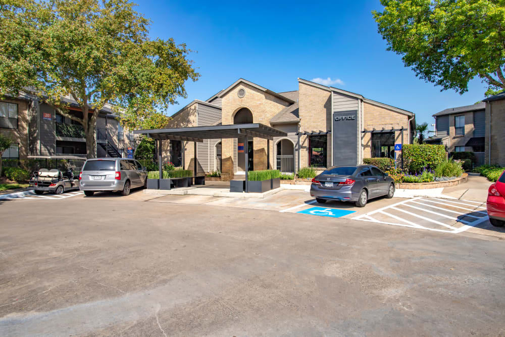 Parking available at 2400 Briarwest in Houston, Texas