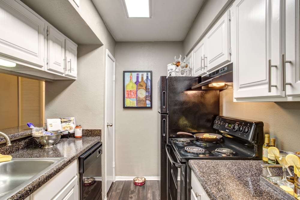 2400 Briarwest in Houston, Texas offers a kitchen