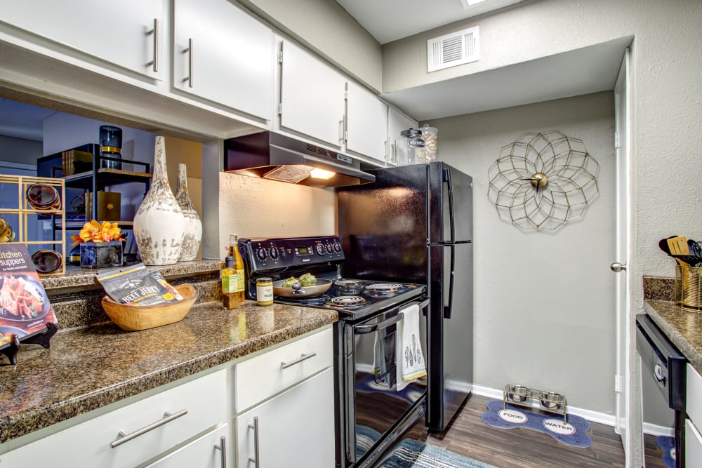 Enjoy the kitchen at 2400 Briarwest in Houston, Texas
