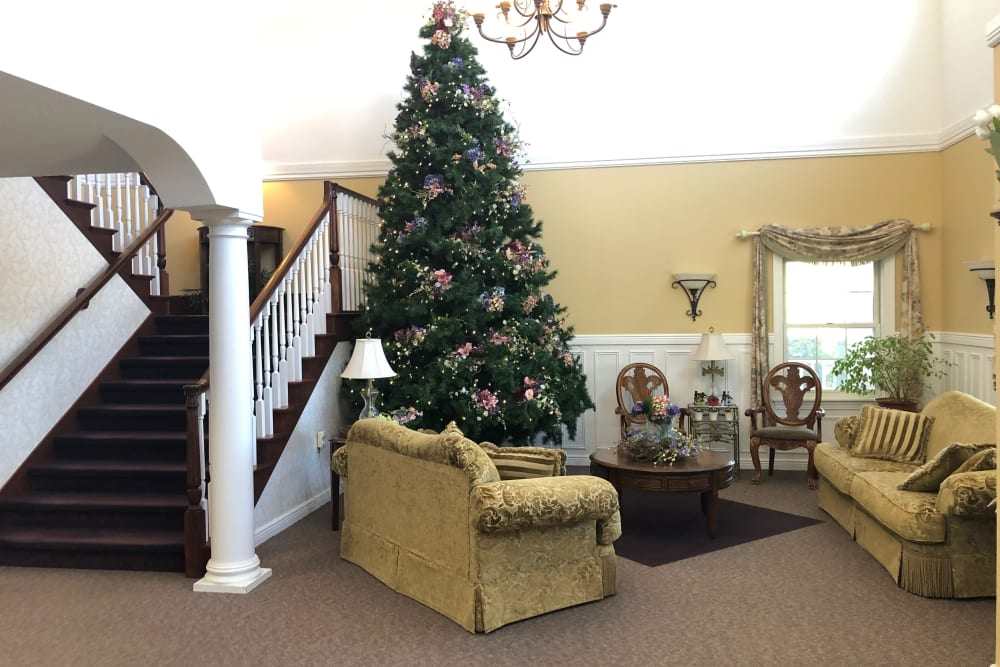 staircase with Christmas Tree