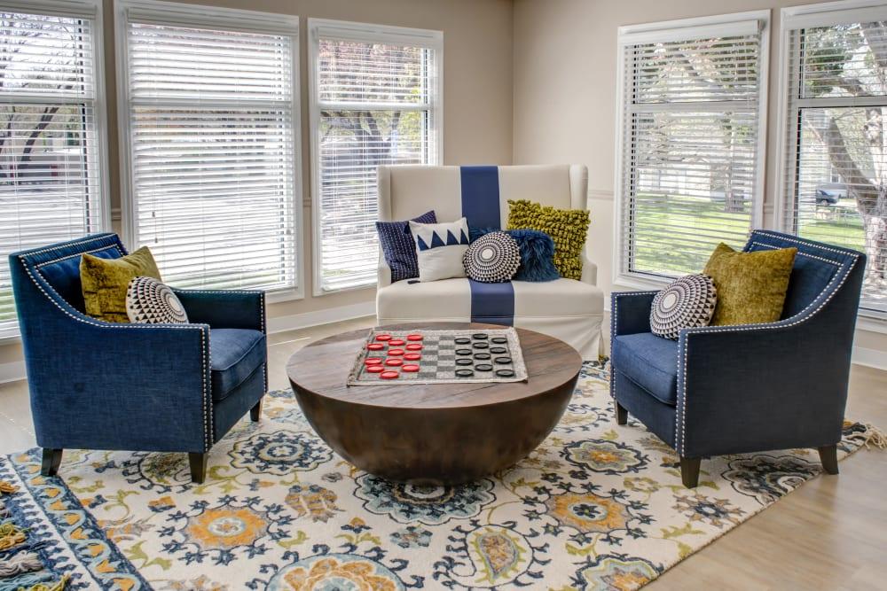 Lounge in Maplewood Estates' clubhouse in Omaha, Nebraska