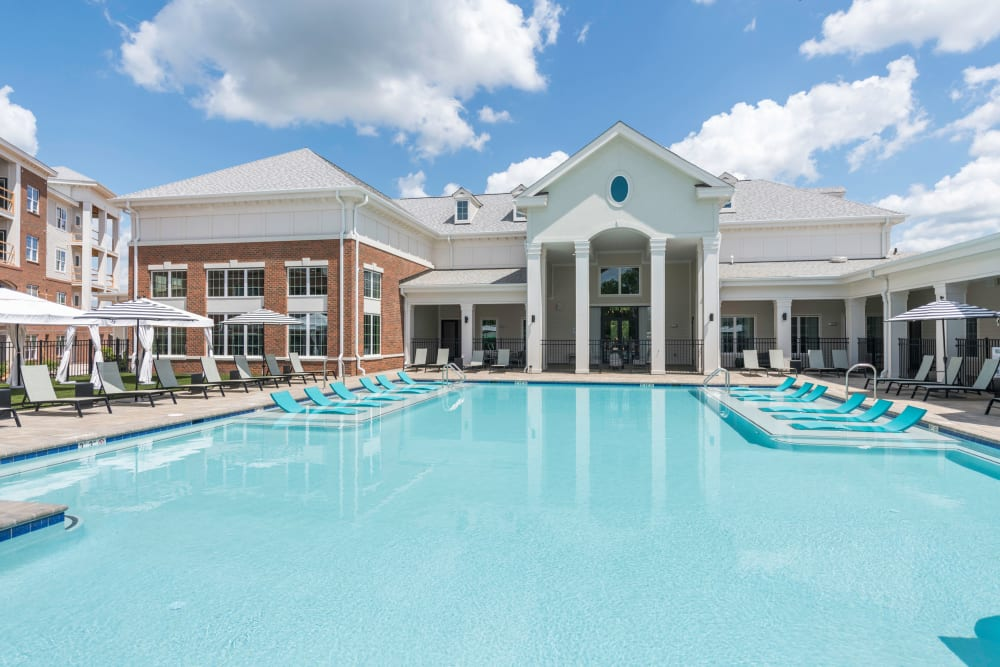 Sparkling pool at Silver Collection at Carl D. Silver Parkway in Fredericksburg, Virginia