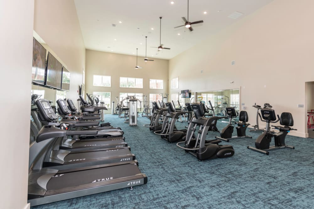 Fitness center at Silver Collection at Carl D. Silver Parkway in Fredericksburg, Virginia