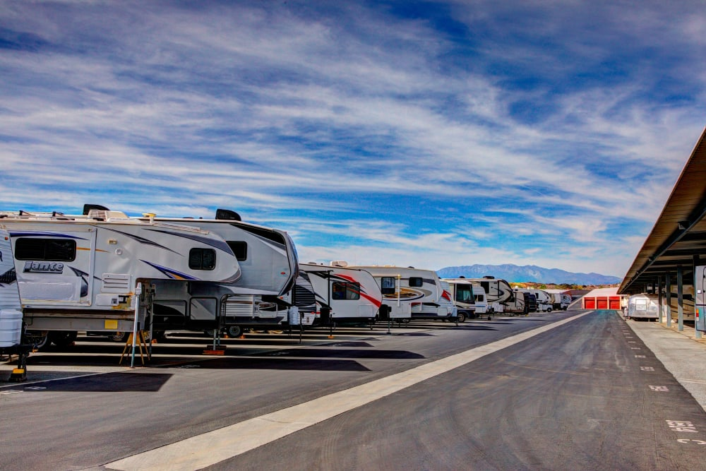 RV storage at Storage Solutions in Beaumont, California