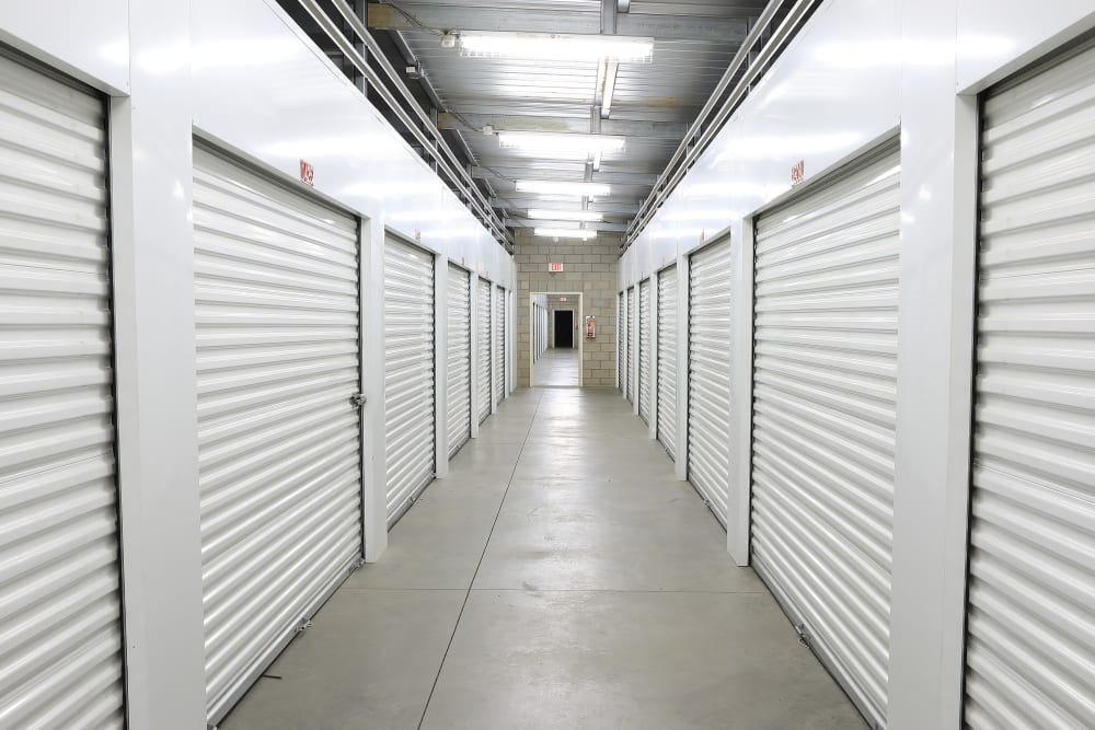 Indoor units at Storage Solutions in Beaumont, California