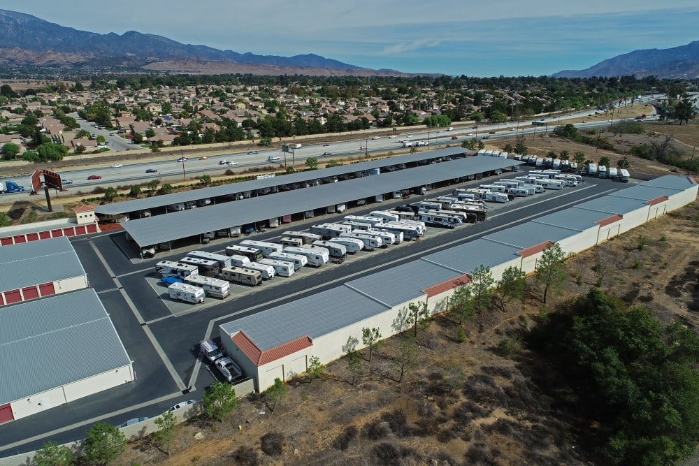 Aerial view of Storage Solutions in Beaumont, California