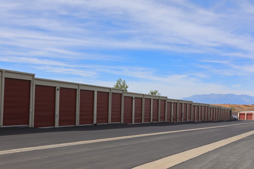 Exterior units at Storage Solutions in Beaumont, California