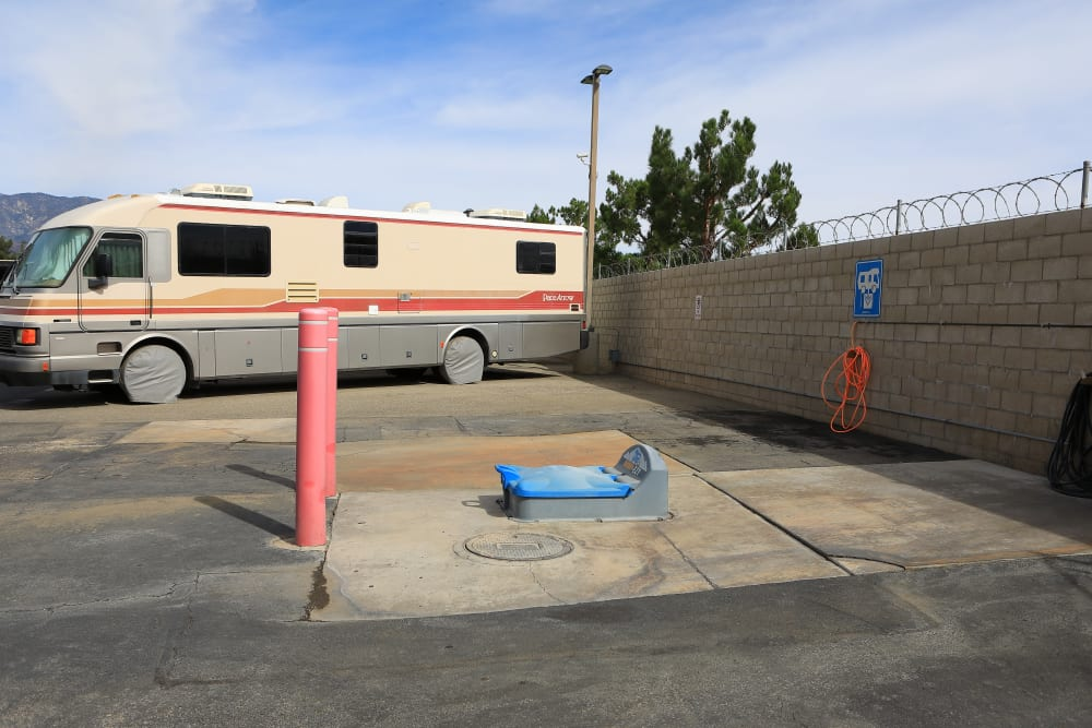 RV spots at Storage Solutions in Beaumont, California