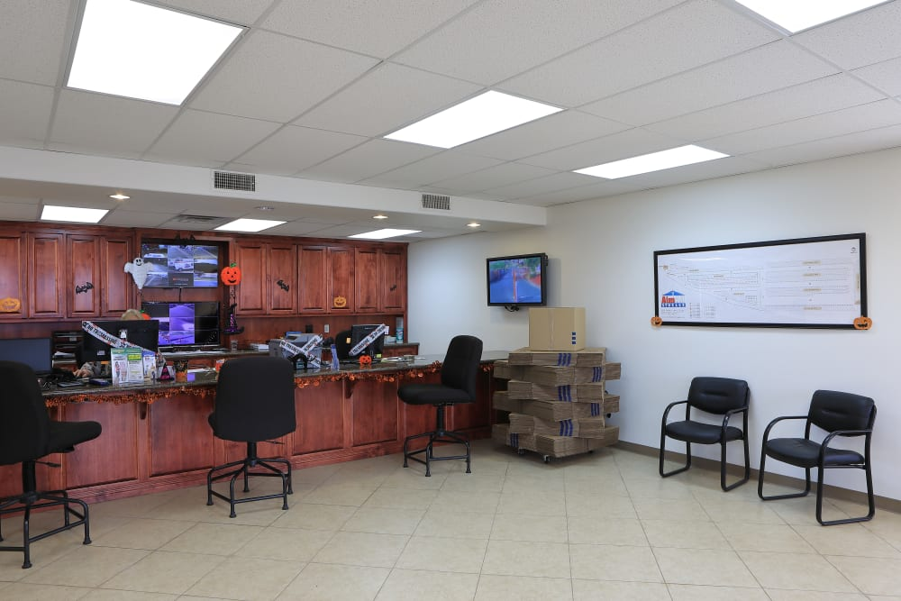 Office at Storage Solutions in Beaumont, California