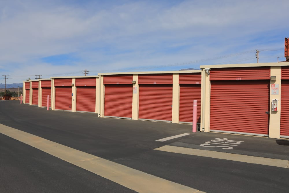 Small and large storage units at Storage Solutions in Beaumont, California