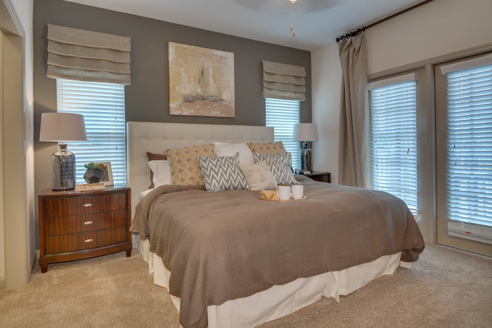 Master bedroom at Lullwater at Riverwood in Evans, Georgia
