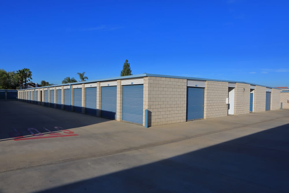 Large and small storage units at Storage Solutions in Riverside, California