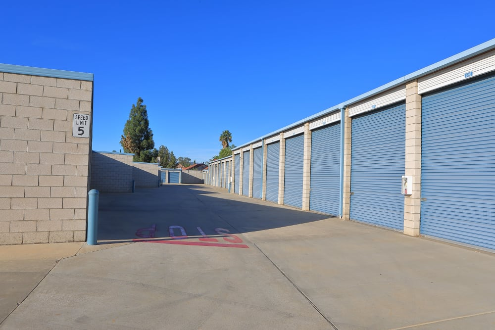 Outdoor storage available at Storage Solutions in Riverside, California