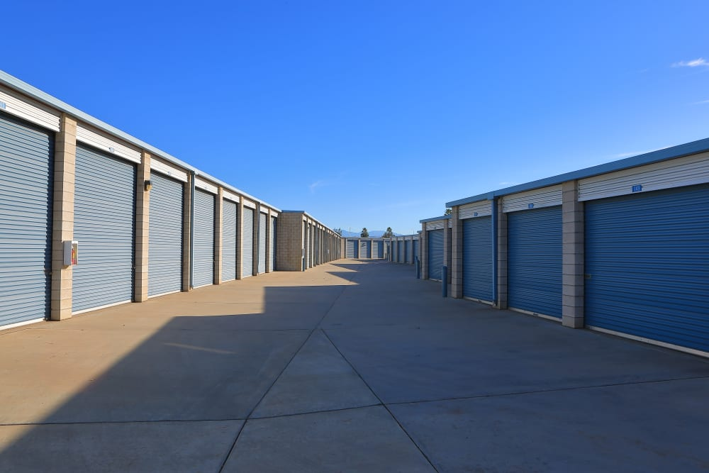 Outdoor units available at Storage Solutions in Riverside, California