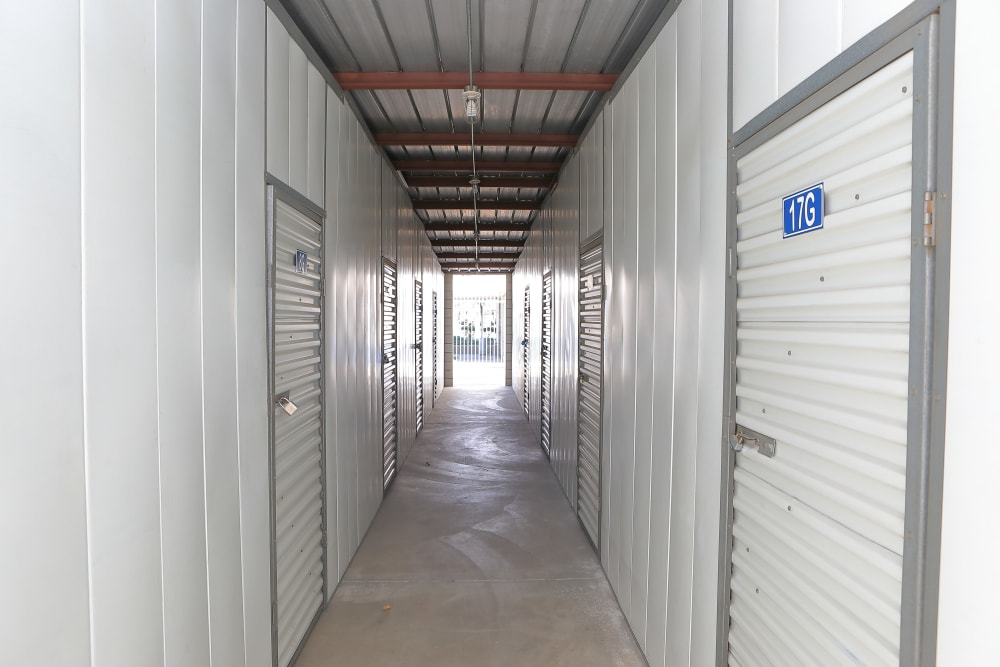 Interior units at Storage Solutions in Moreno Valley, California
